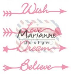 Fustella metallica Marianne Design Collectables Arrow sentiments