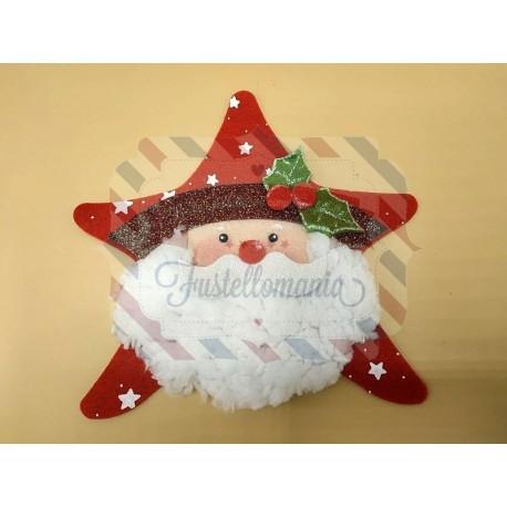 Fustella XL Babbo Natale Stella e vischio