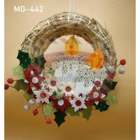 Fustella M Candela Agrifoglio e stella di Natale