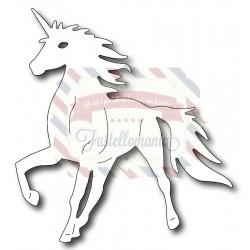 Fustella metallica Unicorno grande