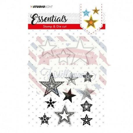 Fustella metallica e timbri Studio Light stamp & die cut A6 Essentials nr.20