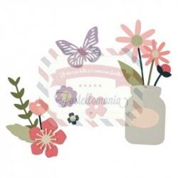 Fustella Sizzix Thinlits set garden florals by My Life Handmade