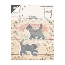 Fustella metallica Joy! Crafts Cutting & Embossing 3D Franciens kittens