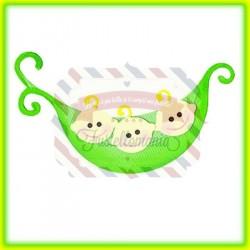 Fustella Sizzix Originals Pea & Pea Pod