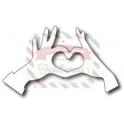 Fustella metallica Mani cuore Emo