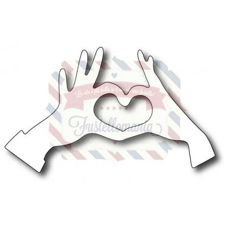 Fustella metallica Mani cuore