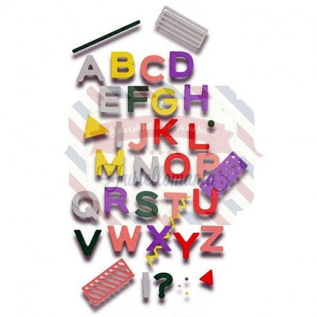 Fustella Sizzix Thinlits Alfabeto Pop Art Uppercase