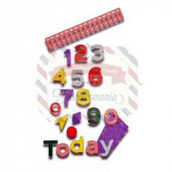 Fustella Sizzix Thinlits Alfabeto Pop Art Numbers