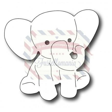 Fustella metallica Elefantino