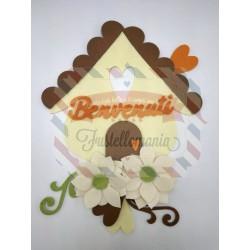 Fustella A4 Casetta con cuore con tetto smerlato