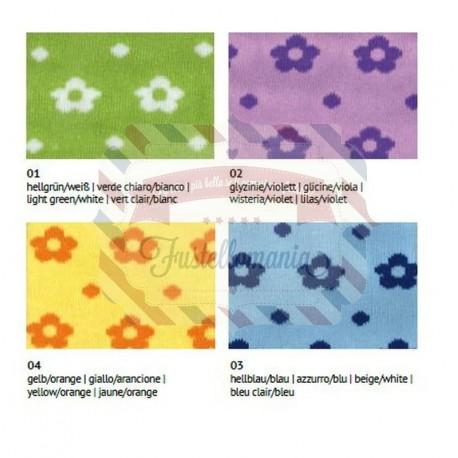 Tubolare in cotone a fiori 30 cm