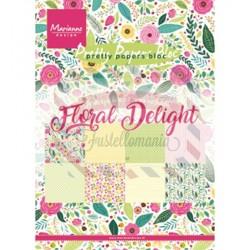 Carta da scrapbooking Marianne Design Bloc Floral Delight