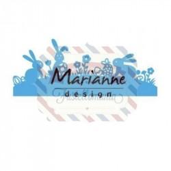 Fustella metallica Marianne Design Creatables bunny border