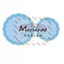 Fustella metallica Marianne Design Creatables doily duo