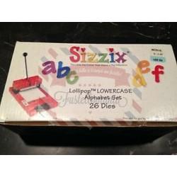 Fustella Sizzix Alfabeto Lollipop Lowercase minuscolo - RARISSIMO -