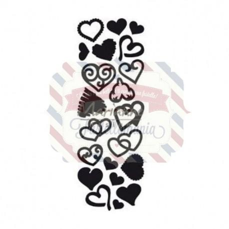 Fustella metallica Marianne Design Craftables punch die sweet hearts