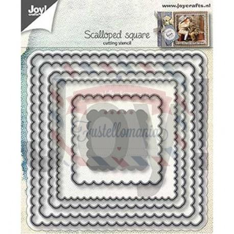 Fustella metallica Joy! Crafts Scalloped squares