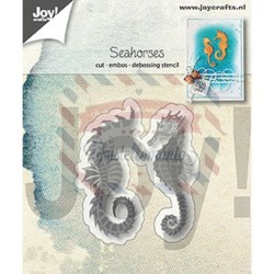Fustella metallica Joy! Crafts Cutting & Embossing Seahorses
