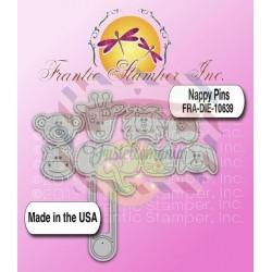 Fustella metallica Nappy pins