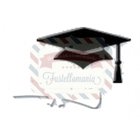 Fustella metallica Cappello laurea con diploma