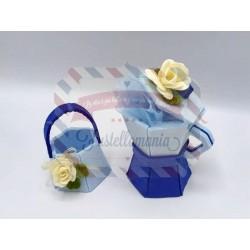 Fustella L Moka e cestino con fiore porta bomboniera