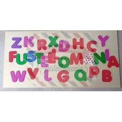 Kit 5 fustelle formato XL Alfabeto maiuscolo Rainbow