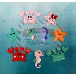 Fustella M Giostra del mare con granchio cavalluccio marino stella marina