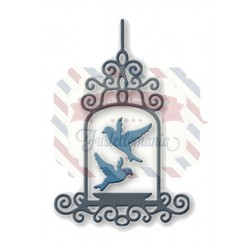 Fustella metallica Gabbia uccellini