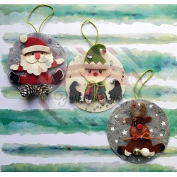 Fustella L Decorazioni natalizie per palline di Natale