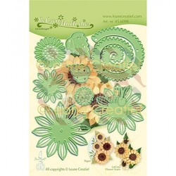 Fustella metallica Leane Creatief 019 Sunflower 3D cut and embossing die