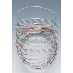 Filo alluminio per creare scritte o occhiali per pupazzi 2mm x 10 mt