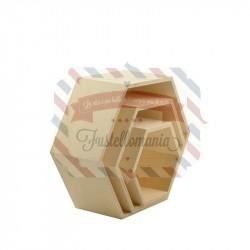 Scatoline esagonali set 3 pezzi