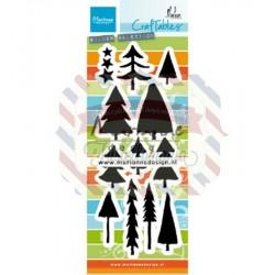 Fustella metallica Marianne Design Craftables Trees by Marleen