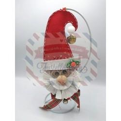 Fustella XL Babbo Natale con vischio