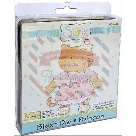 Fustella Sizzix Bigz Animal dress ups Kitty