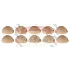 Set 10 semisfere in legno di faggio 30 mm