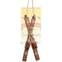 Sci di legno decorativi 15x4 cm