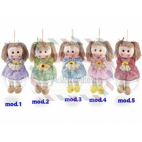 Bambola porta asciugamano in stoffa colore a scelta