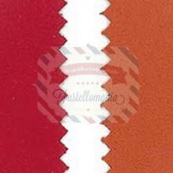 Tessuto in similpelle scamosciato50x70 rosso arancio