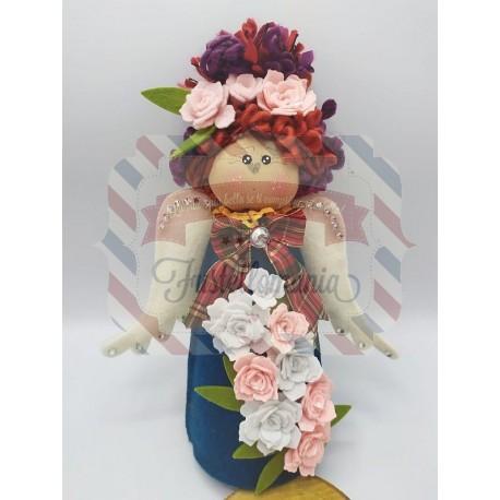 Fustella XL Angelo Margherita 3D con fiore