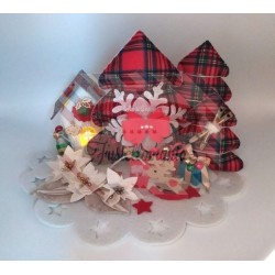 Fustella A4 Doppio Albero di Natale con decorazioni