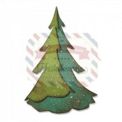 Fustella Sizzix Bigz Pine layered