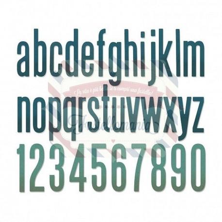 Fustella Sizzix Thinlits Alfabeto set 96pk alphanumeric classic lower