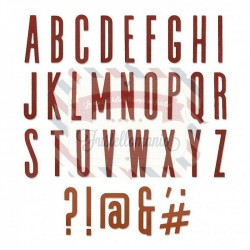 Fustella Sizzix Thinlits Alfabeto set 65pk alphanumeric classic upper