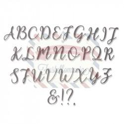 Fustella Sizzix Thinlits Alfabeto Set 28PK - Elle Upercase
