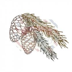 Fustella Sizzix Thinlits set 4pk pine branch