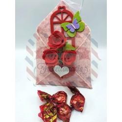 Kit fustellati Busta con fiori porta dolciumi