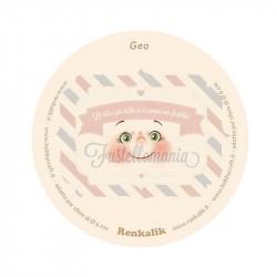 Viso stampato su tessuto Gea 13 cm per sfere da 6 cm