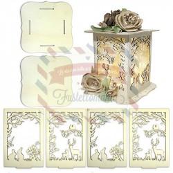 Lanterna sweet in legno 15x15x15 cm