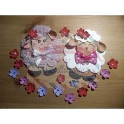 Fustella M Pecorella con fiorellino